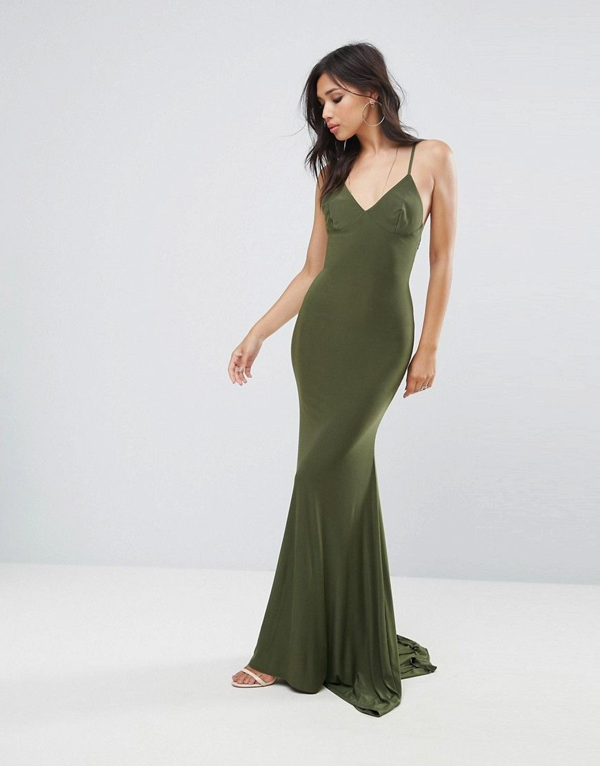 b2b140771bed Club L Strappy Back Maxi Dress With Fishtail | prom | Dresses ...