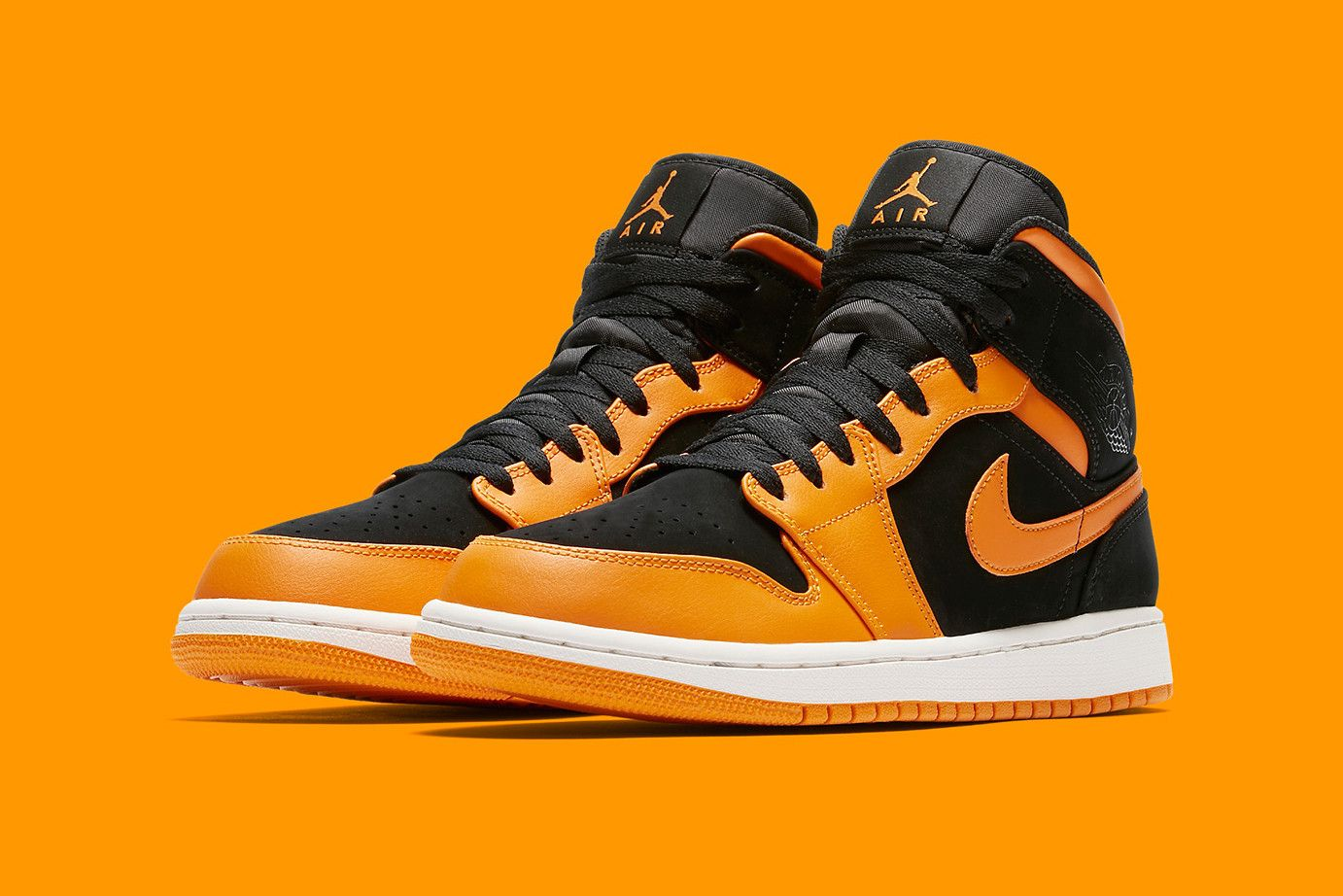 air jordan 1 mid homme orange
