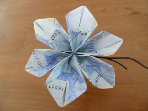 marly design: geld bloem / money flower | geld vouwen | Pinterest