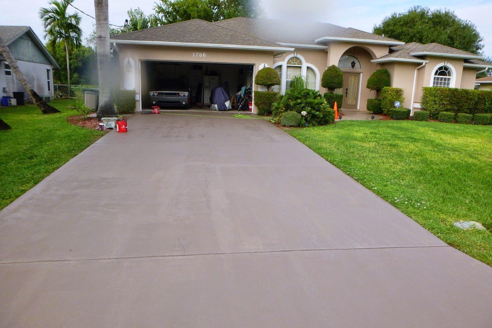 Match Your Driveway To Your House Color Concrete Driveway Paint