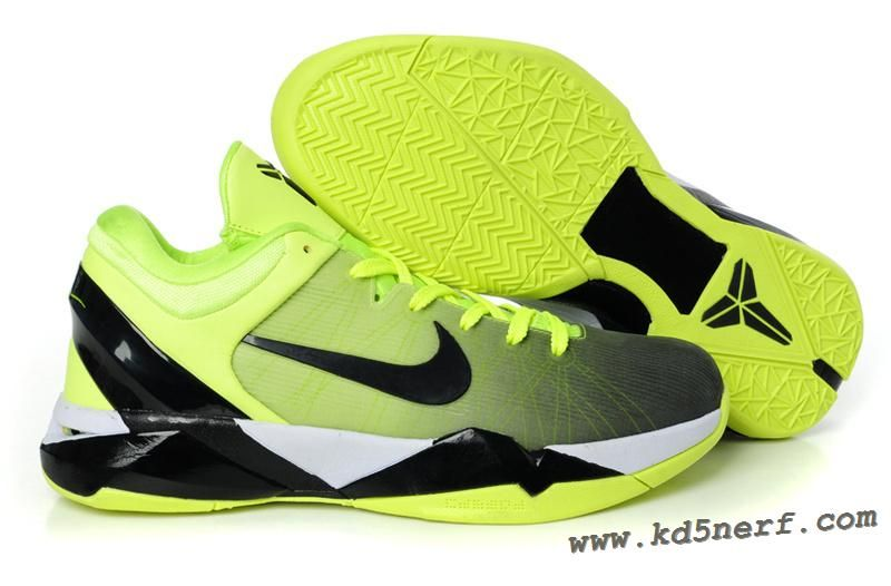 76b2050570a0 2013 Nike Zoom Kobe 7 System ID Fade Option Volt Black-Wh shoes for sports.  Find this Pin and ...