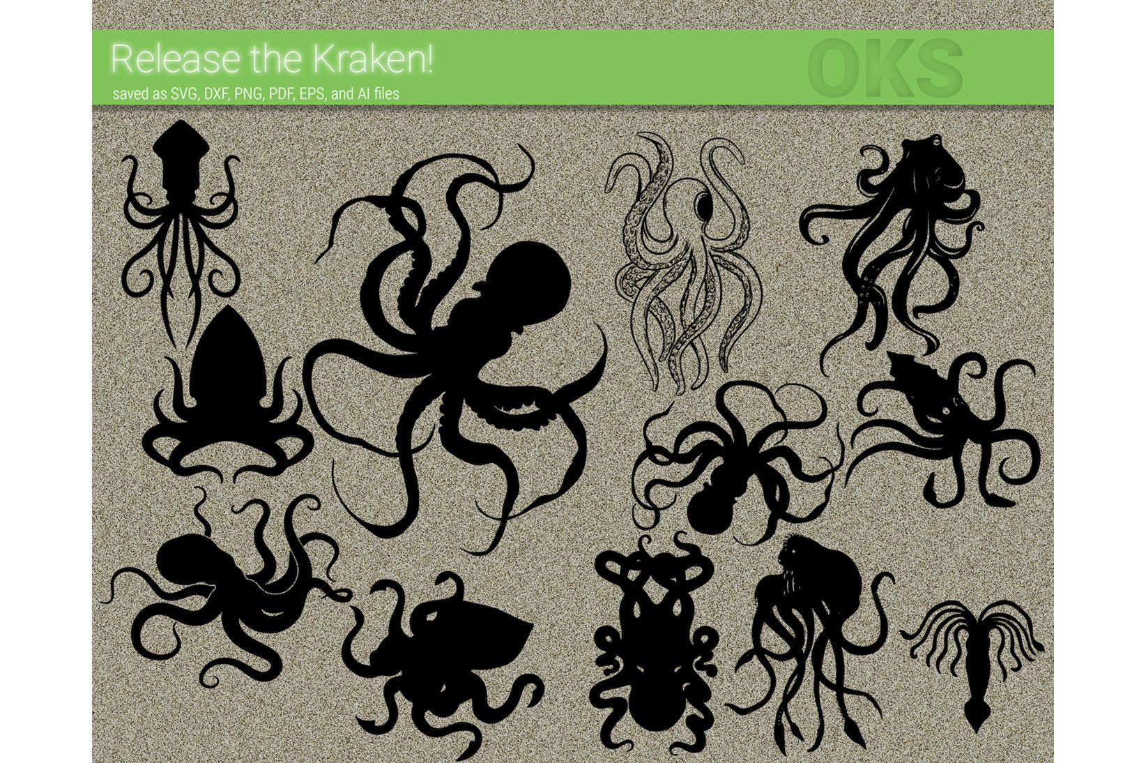 Kraken, Octopus Svg Clipart Vector (Graphic) by CrafterOks