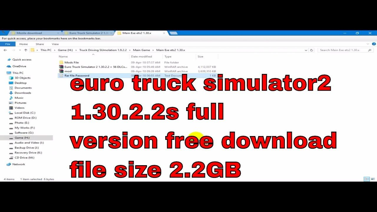 how to download euro truck simulator 2 1 30 2 2 with 56 dlc