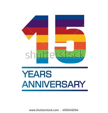 15 Years Anniversary Logo With Rainbow Color Anniversary Logo For