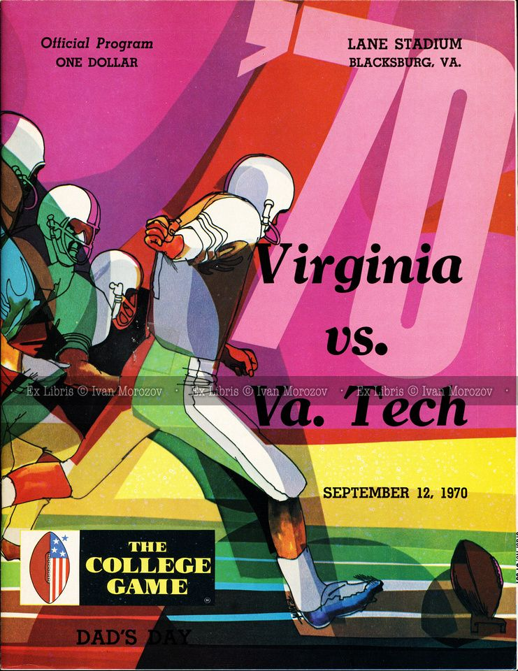 1970.09.12. University of Virginia (Cavaliers) at Virginia
