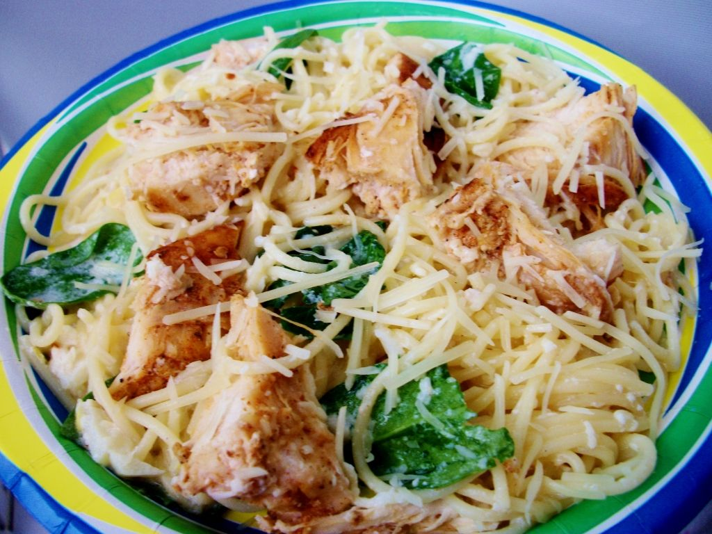 The Recipe Crayon Box Lemon Angel Hair With Chicken And Spinach