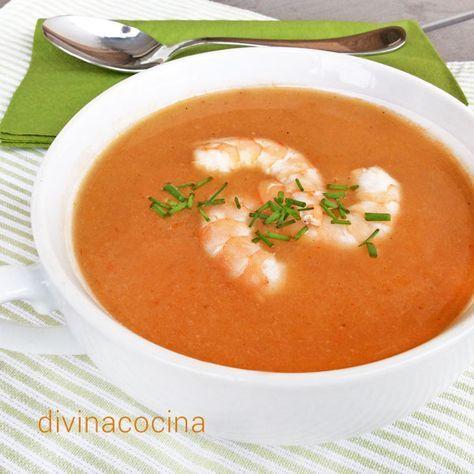 Receta De Crema De Mariscos Divina Cocina Crema De Marisco Cremas Recetas Recetas De Sopa