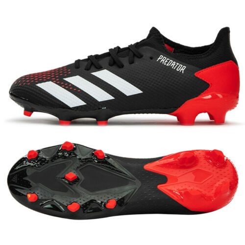 Adidas Predator 20 3 L Fg Football Shoes Soccer Cleats Black Red Ee9556 Ebay In 2020 Predator Football Boots Football Shoes Adidas Soccer Shoes