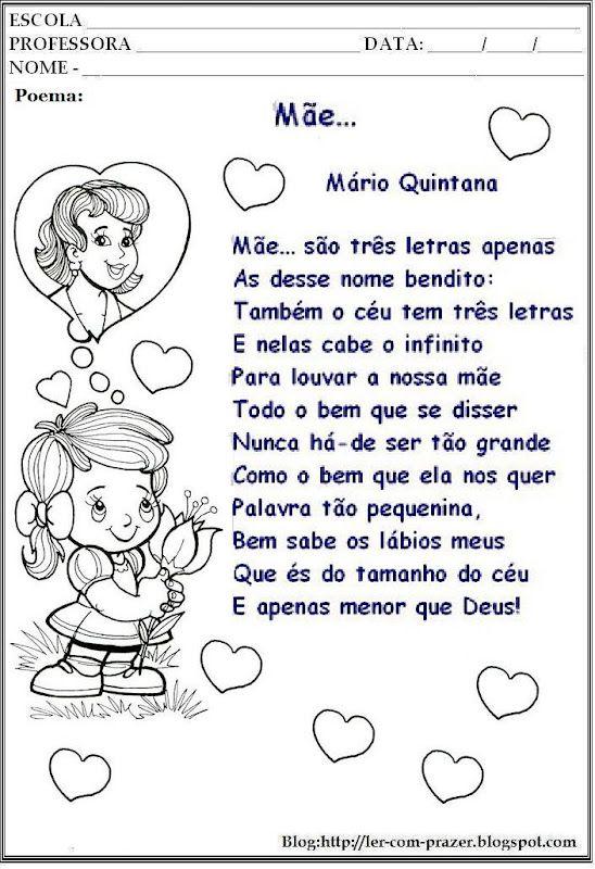 Poema E Poesias Dia Das Maes Com Imagens Poesia Dia Das Maes