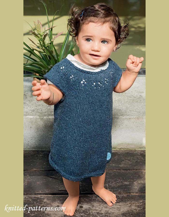 Baby Girls Dress Knitting Pattern Free Diy Crafts That I Love