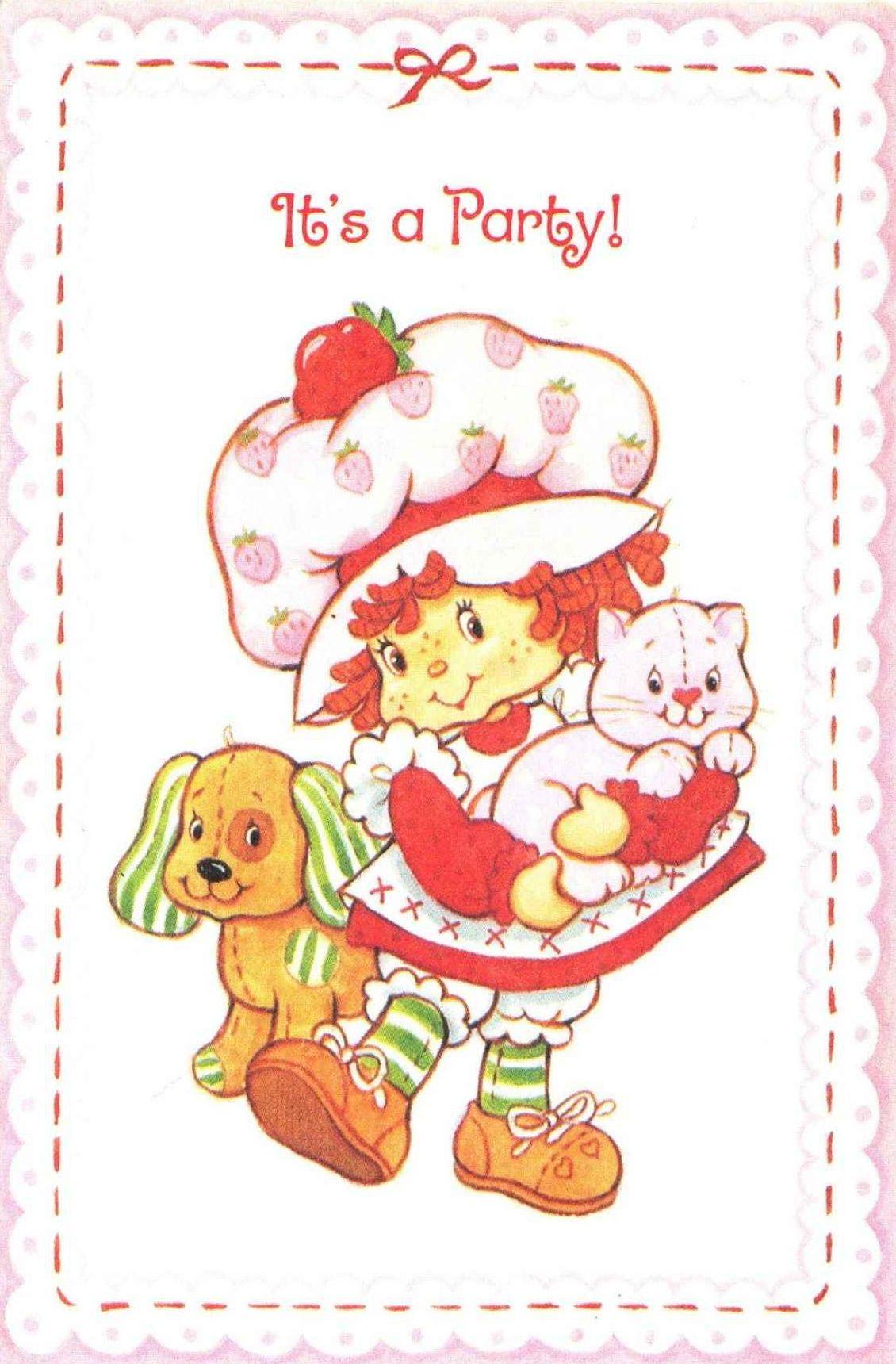 Vintage Strawberry Shortcake 1st Birthday Party