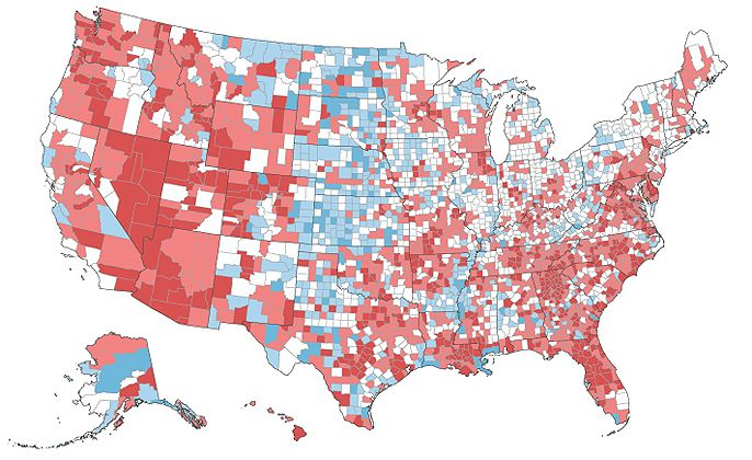 Americas Romance With Sprawl May Be Over Ap Human Geography - Us population growth map