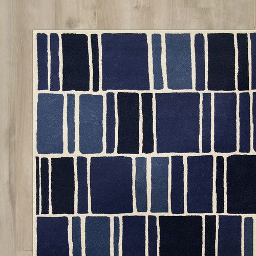 Found it at AllModern - Kelly Hand-Loomed Blue/Ivory Area Rug