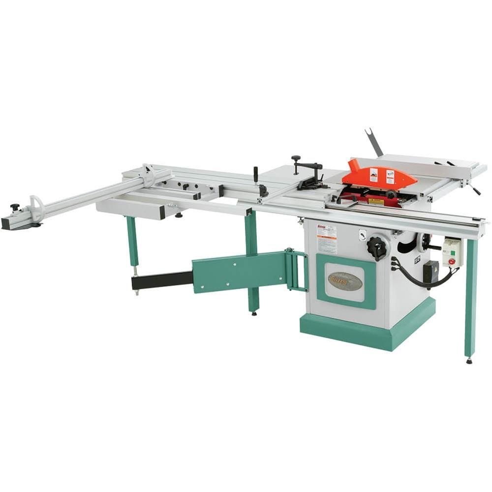 Grizzly Industrial G0623x 10 5 Hp 230v Sliding Table Saw Walmart Com Best Woodworking Tools Sliding Table Saw Woodworking Tools Storage