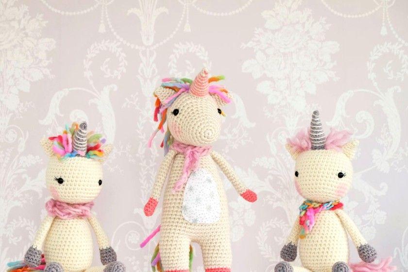 juguetes de punto Amigurumi unicornio para principiantes ...