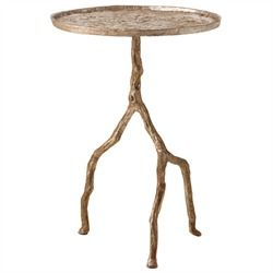 Side Table Distressed Silver Iron Table Decorating Coffee Tables Table