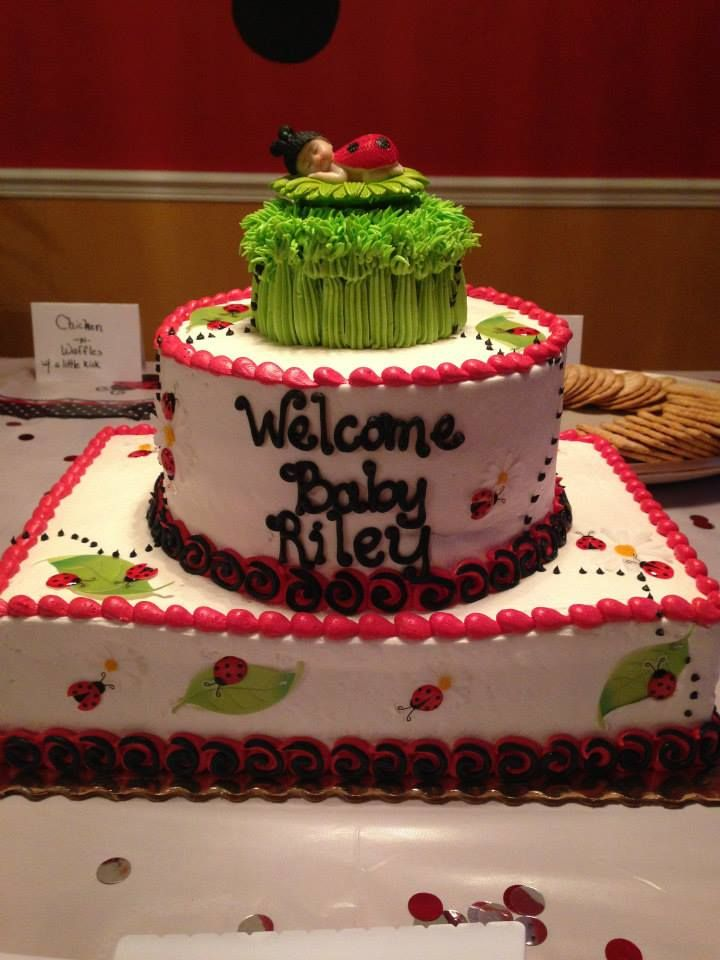 Magnificent Lady Bug Baby Shower This Is A Publix Birthday Celebration Cake Personalised Birthday Cards Veneteletsinfo