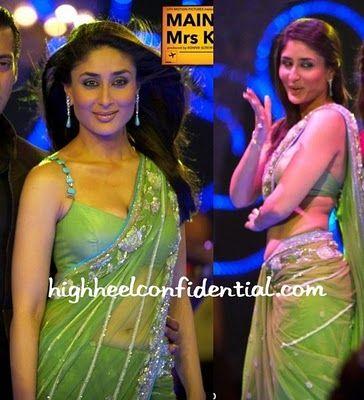 Kareena Kapoor In Green Saree Saree Fashion Party Sarees