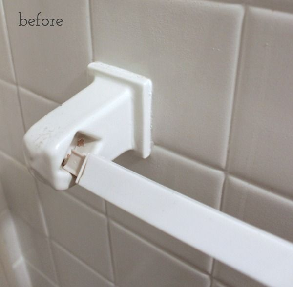 How To Replace A Towel Bar With Fixed Ceramic Ends Shower Towel