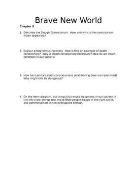 brave new world activities while reading book