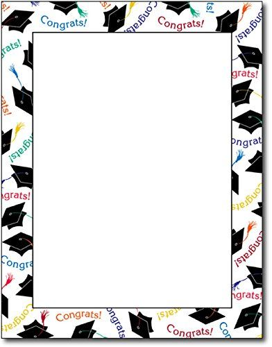 Graduation Congrats Paper - 80 Sheets Great Papers!   www