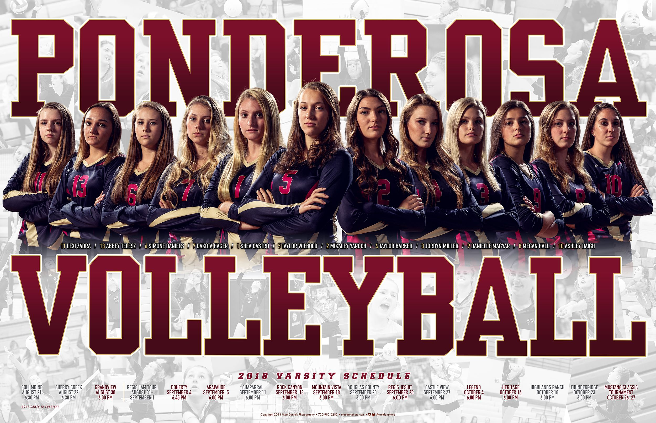 2018 Ponderosa Volleyball Team Poster Copyright 2018 Matt Daniels Photography Volleyball Team Pictures Volleyball Team Photos Senior Volleyball Banner