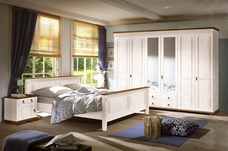 Sevilla Schlafzimmer Mit Schrank 6 Trg 90 26 51 Kiefer Weiss Komplettes Schlafzimmer Schlafzimmer Einrichten Zimmer