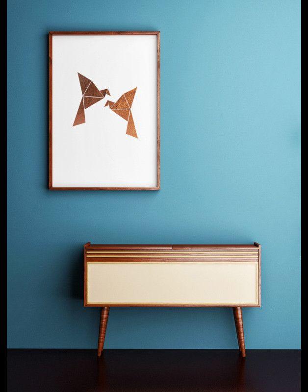 Kupfer feiert sein großes Comeback - auch bei XOXO Arte. Origami ...