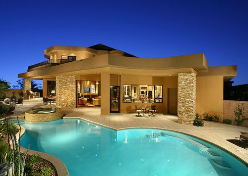 Pin By Kristen F On Cribs Fancy Houses Big Modern Houses Pool