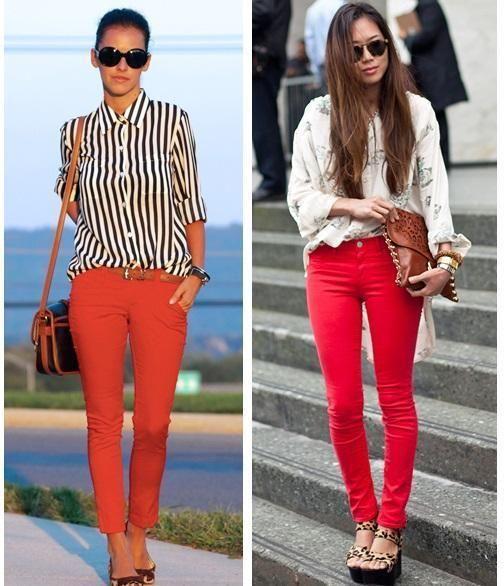 comment assortir un pantalon rouge les pantalons de couleurs sont tendance si vous arrivez. Black Bedroom Furniture Sets. Home Design Ideas