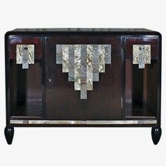 Tiefer Art Deco Schrank Frankreich 1920er 20 With Images Art Deco Cabinet Art Deco Furniture Art Deco Bedroom Furniture