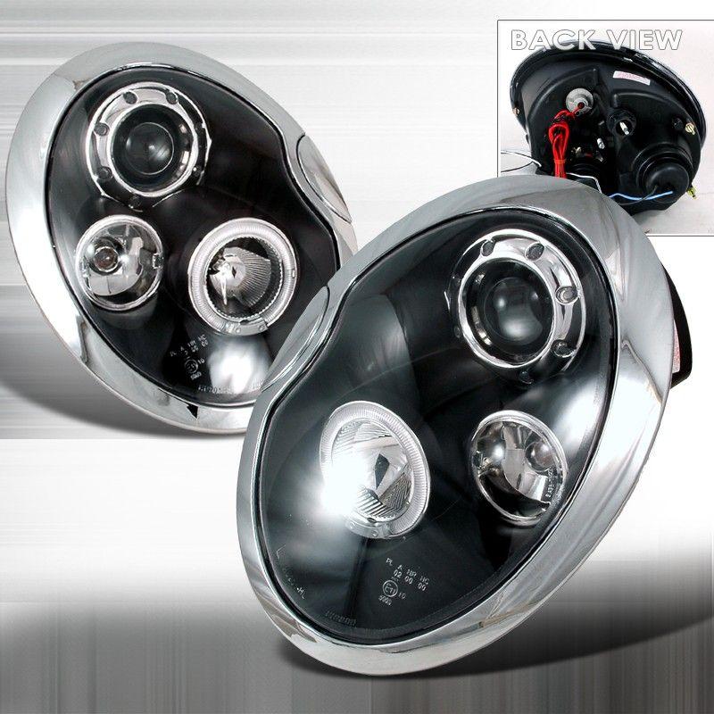 Mini Cooper 2001 2006 Spec D Halo Ring Headlamp Assembly Black Housing M7 Mini Cooper Accessories Mini Cooper Mini Cooper Custom