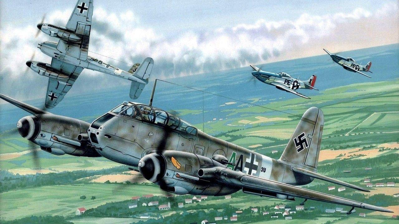 Обои painting, don greer, german fighter, Fw 190, aviation, war, ww2. Авиация foto 7