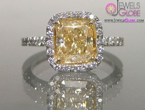 Yellow Diamond Antique Wedding Rings For Women Would Rather An Emerald Cut But Ill Settle