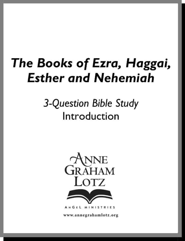 Ezra haggai esther nehemiah 23 weeks anne graham