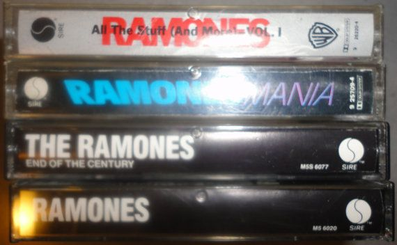 4 RAMONES cassette tape LoT vintage music by VintageTrafficUSA, $43.50