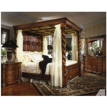 King Size Poster Bedroom Sets Margaret King Poster Canopy Bed 5