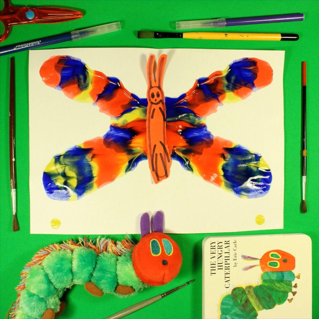 Symmetry painting with a Very Hungry Caterpillar twist! | The Very ...