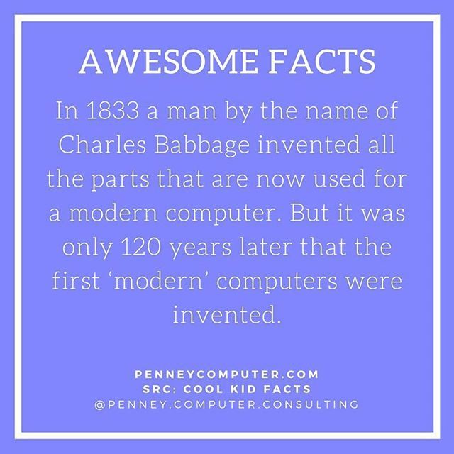 In 1833 Charles Babbage Invented The Parts That Now Make Up A Modern Computer Computer History Computer Inventions