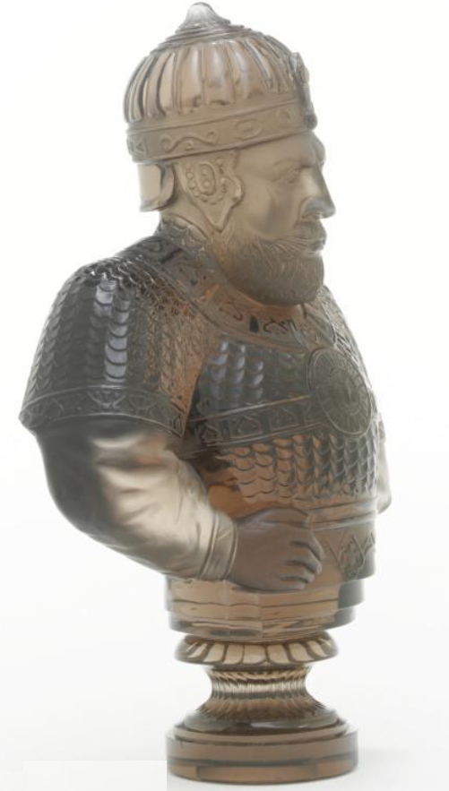 Russian carved smokey quartz desk seal imperial lapidary