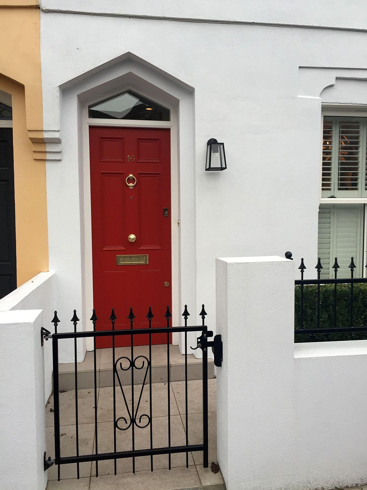 Front Garden Design Classic Front Door London (