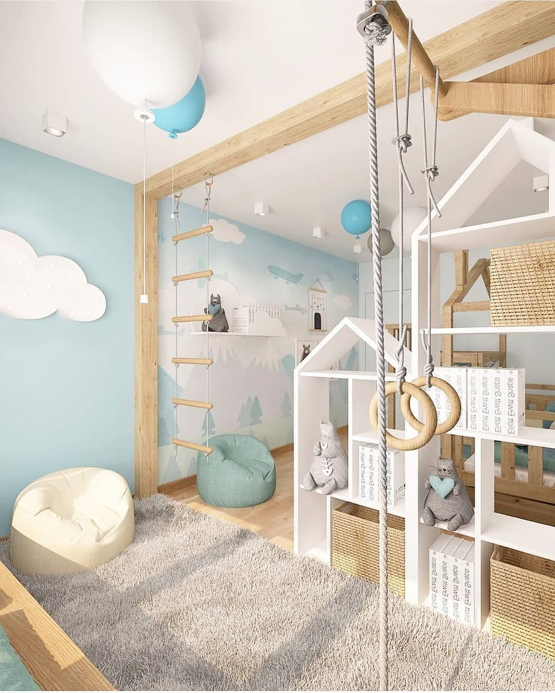 We're obsessed with the mini jungle gym in this kids room! A sure (and fun!) way for your little monkey to use up all his energy before heading to bed 🐒 #toddlekind #kidsroomdecor#playmats #toddler #toddlerroom#babyroom #playmats #tapisdejeu#nurserydeco #nurseryinspo #playmatbaby #babynursery #easynursery #kidsafe #kidsplayroom #babynursery #tapiseveil #babycarpet #babyroom