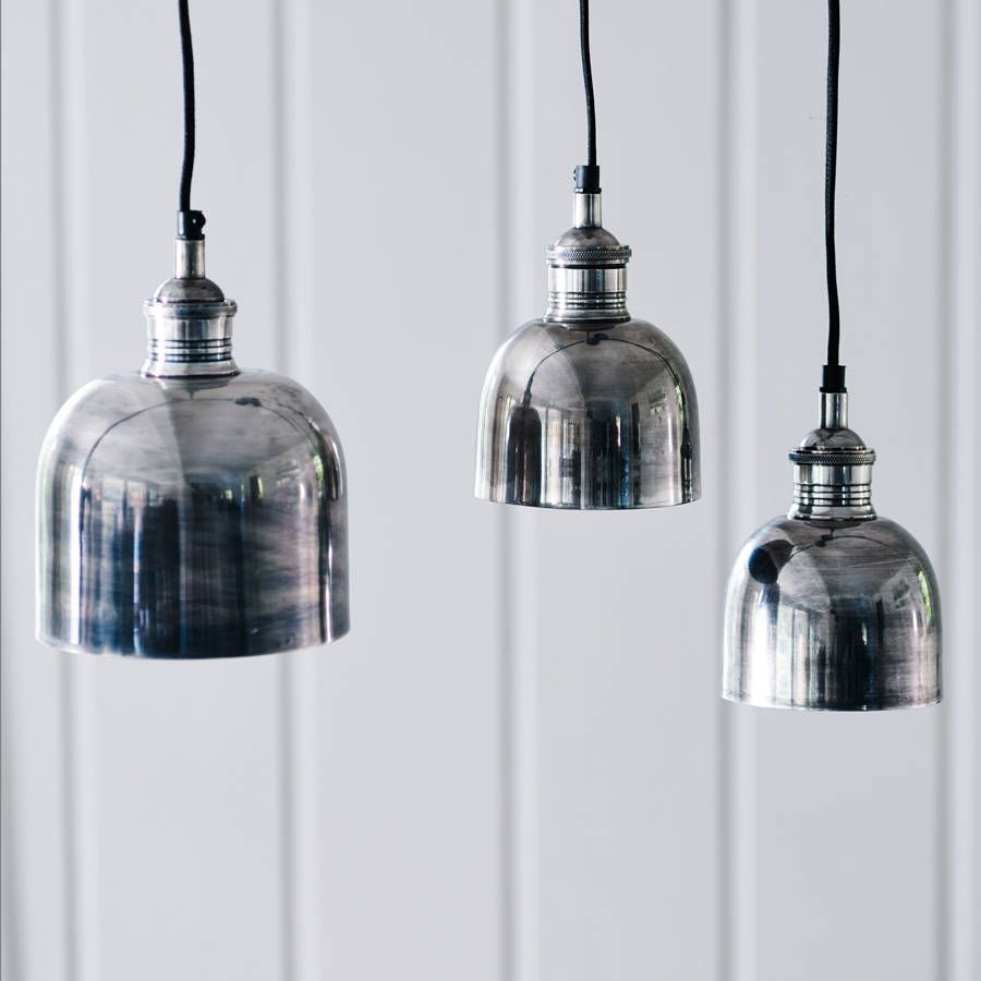 Flori Tarnished Silver Pendant Light Pinterest Pendant Lighting - Silver kitchen light fixtures
