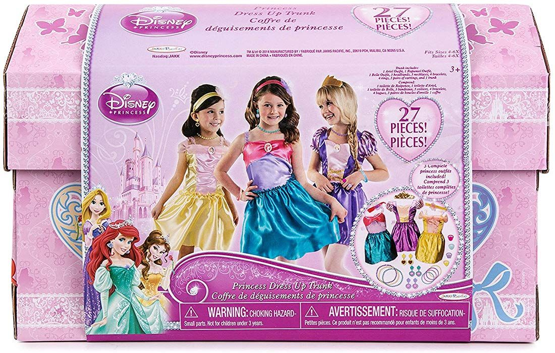 Disney princess 27 piece dress up trunk with