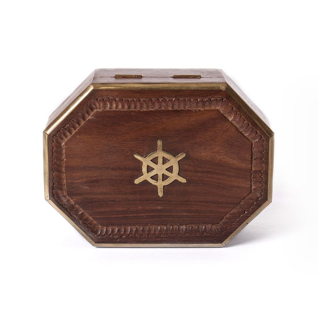 Decorative Traces - Brass Inlay Wooden Box