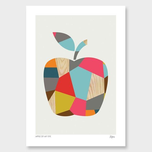 apple art print by bright creative Графично феерично in 2018