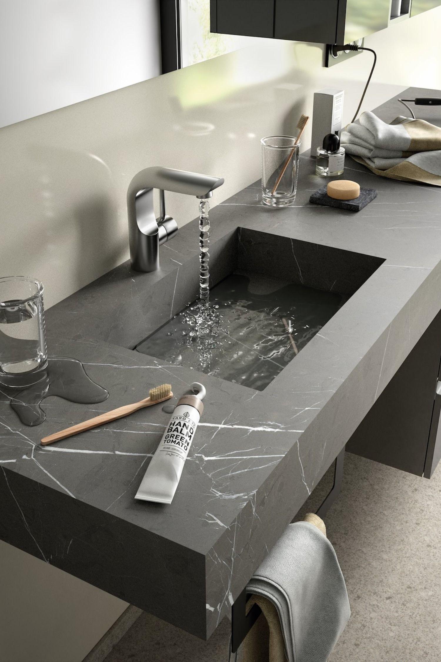 Mensola Stone lavabo integrato Pietra grigia nel 2020