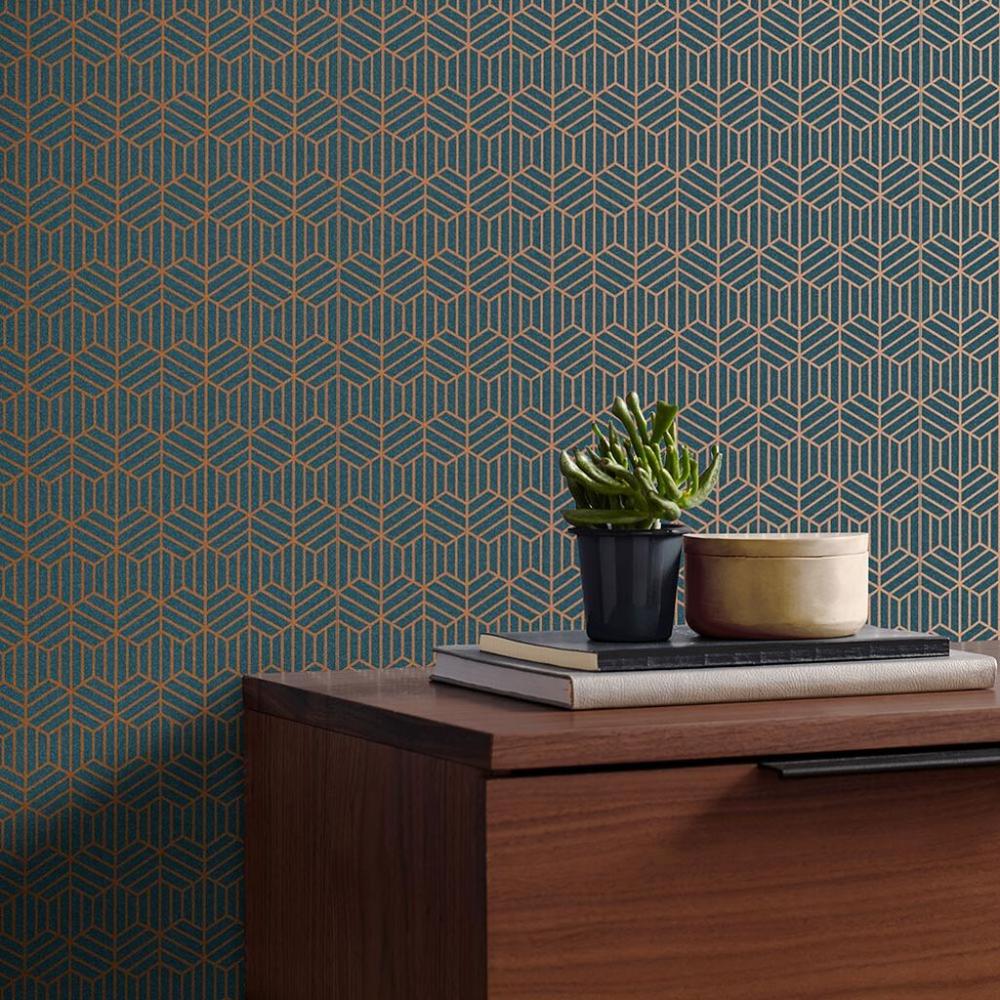 Echo Colbalt Wallpaper Blue Wallpaper Graham & Brown