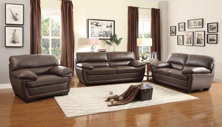 Adrian Contemporary Bi Cast Vinyl Living Room Set Living Room Sets Brown Living Room Contemporary Bedroom Furniture