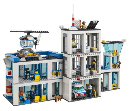 Brand New  /& Free Shipping Police City Station Blocks Building Lego